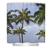 Oahu, Rainbow Shower Curtain