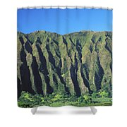 Oahu Rugged And Lush Shower Curtain