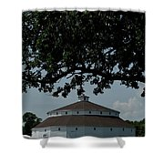 Oak And Round Barn Shower Curtain