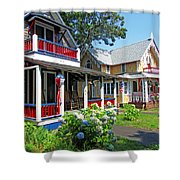 Oak Bluffs Gingerbread Cottages 1 Shower Curtain