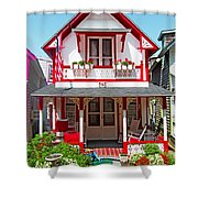 Oak Bluffs Gingerbread Cottages 2 Shower Curtain