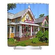 Oak Bluffs Gingerbread Cottages 3 Shower Curtain