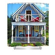 Oak Bluffs Gingerbread Cottages 4 Shower Curtain