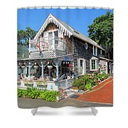 Oak Bluffs Gingerbread Cottages 8 Shower Curtain
