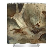 Oak Branch And Acorn Shower Curtain