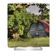Oak Framed Barn Shower Curtain by Benanne Stiens