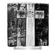 Oak Hill Cemetery Crosses #2 Shower Curtain