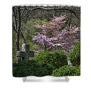 Oak Hill Cemetery Crosses Shower Curtain