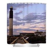 Oak Island Lighthouse Shower Curtain