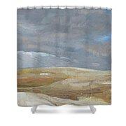 Oak Savanna, Fall Storm Shower Curtain