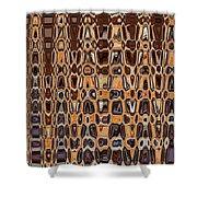 Oak Stump Abstract Shower Curtain