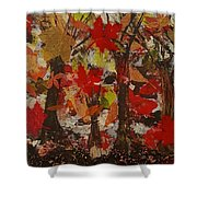 Oaks And Acorns Shower Curtain