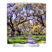 Oaks And Spanish Moss Shower Curtain