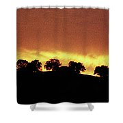 Oaks On Hill At Sunset Shower Curtain