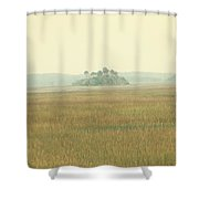 Oasis Shower Curtain by Amy Tyler