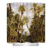 Oasis At Lagrount  Shower Curtain