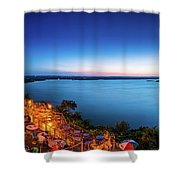 Oasis At Night Shower Curtain