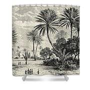 Oasis Of Gafsa  Tunis Shower Curtain