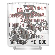 Oath Shower Curtain by TortureLord Art