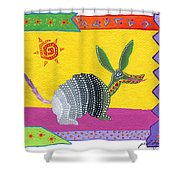 Oaxacan Armadillo Shower Curtain