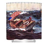 Obama At Sea Shower Curtain