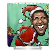 Obama Christmas Shower Curtain