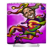 Obama Jester Shower Curtain