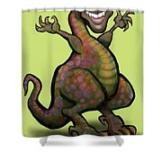 Obama Saurus Rex Shower Curtain