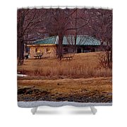 Obear Park At Sunset In Winter Shower Curtain