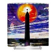 Obelish Eclipse Shower Curtain