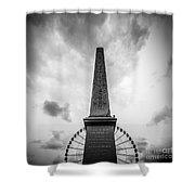 Obelisk And Big Wheel At Place De La Concorde, Paris Shower Curtain