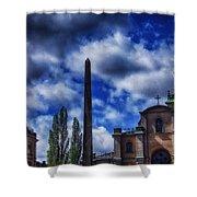 Obelisk In Gamla Stan Shower Curtain