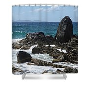 Obelisk In The Sea Shower Curtain