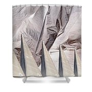 Obelisks Aligned Shower Curtain