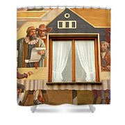 Oberammergau Frescoe Shower Curtain