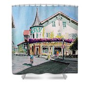 Oberammergau Street Shower Curtain