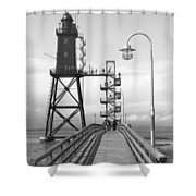 Obereversand Lighthouse - North Sea - Germany Shower Curtain