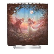 Oberon And Titania Shower Curtain