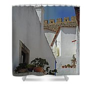 Obidos Portugal Walkway Shower Curtain