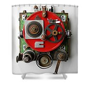 Obot Bot Shower Curtain by Jen Hardwick