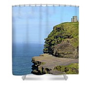 O'brien's Tower Along The Cliff's Of Moher In Ireland Shower Curtain