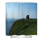 O'brien's Tower At The Cliffs Of Moher Ireland Shower Curtain