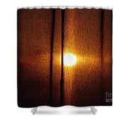 Obscured Sunset Shower Curtain