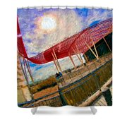 Observation Tower Circuit Of The Americas Shower Curtain