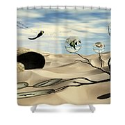 Observations Shower Curtain