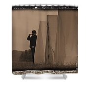 Observing The Field Of Battle Shower Curtain
