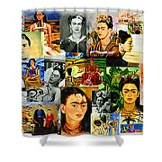 Obsessed With Frida Kahlo Shower Curtain