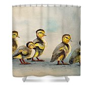Obstacle Course Shower Curtain by Dee Carpenter