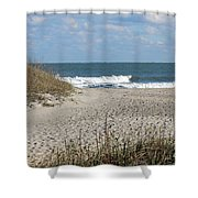 Obx Beach And Dunes Shower Curtain