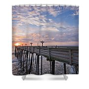 Obx Sunrise Shower Curtain by Adam Romanowicz